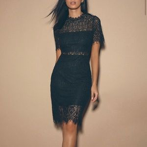 Lulus Remarkable Black Lace Dress